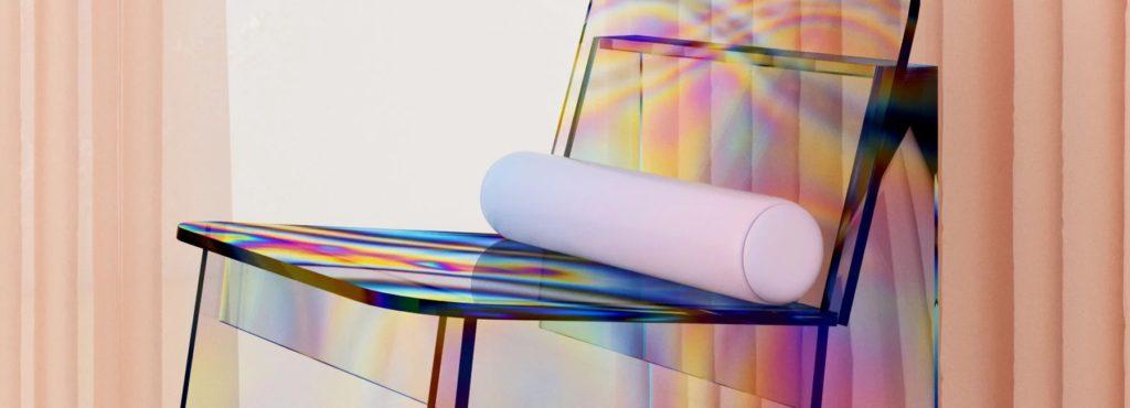 Бразильский дизайнер создал стул с эффектом «масляного пятна»