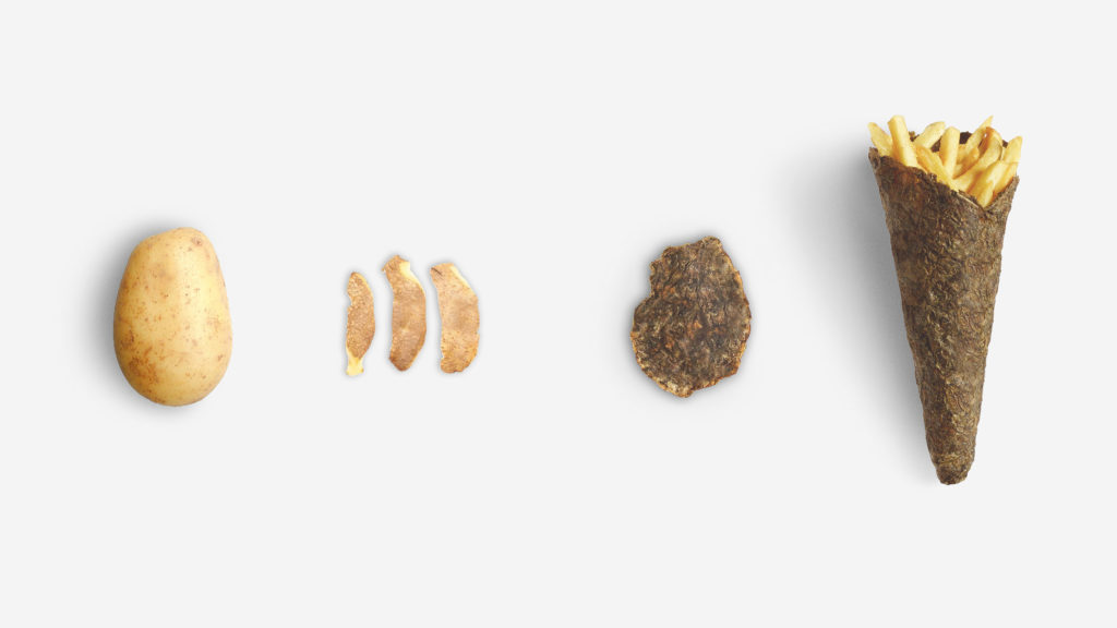 Упаковка из картофельной кожуры. Она на 100% биоразлагаема!
