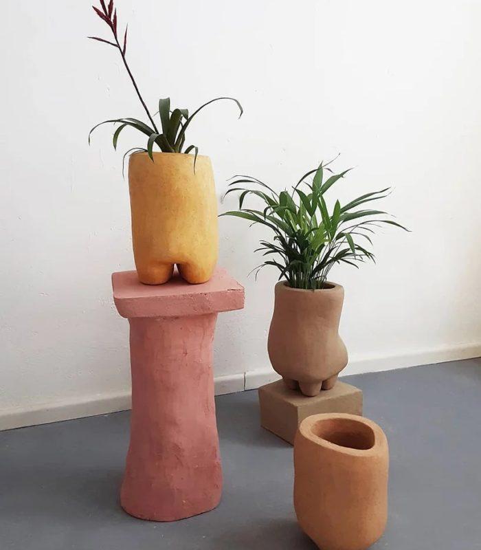 Дизайнер из Берлина использует коноплю для создания устойчивых монолитных горшков для растений