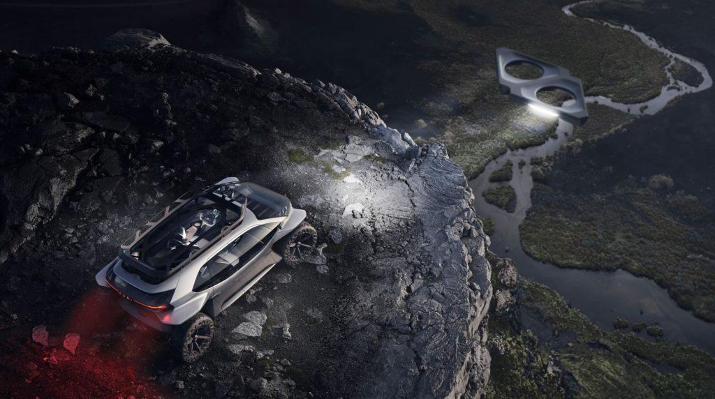 AUDI отказывается от фар! Летающие дроны теперь будут освещать путь!