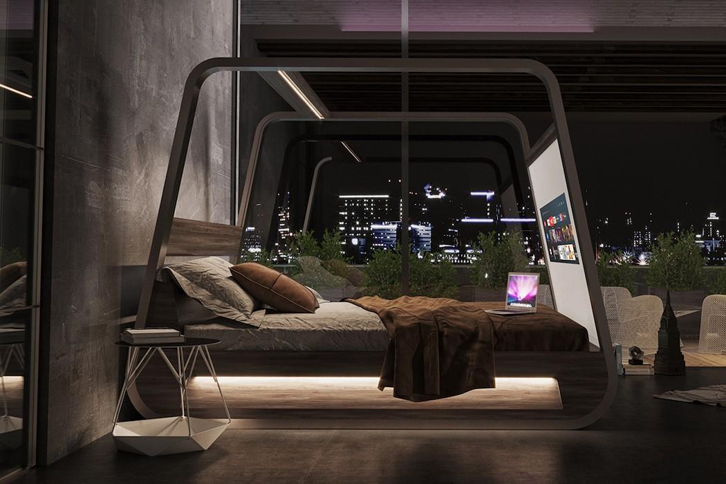 Эта кровать оснащена 70-дюймовым выдвижным экраном, чтобы вы отдыхали и развлекались!