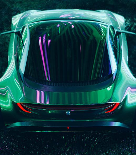 Alfa Romeo Junior Zagato - спортивное купе будущего в футуристическом стиле