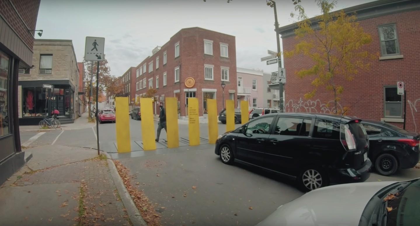 Как вы заставляете водителей останавливаться перед пешеходным переходом? У канадцев теперь есть способ!