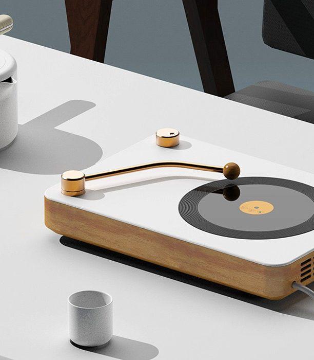 Классическая внешность сочетается с современной функциональностью в этой кухонной плите, вдохновленной музыкальным проигрывателем!