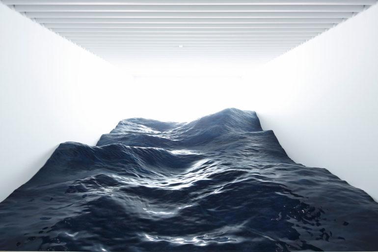 В этой маленькой комнате… они поместили океан…