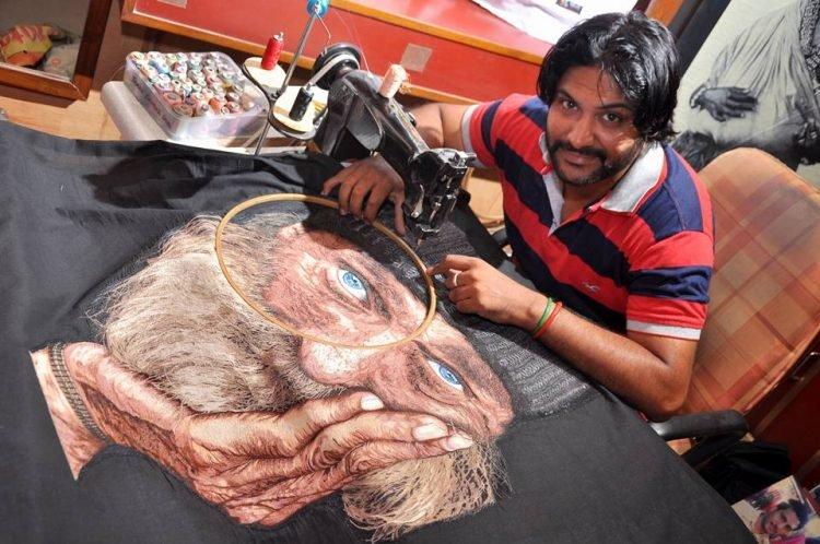 Он единственный в мире мастер, который создает ошеломляющие картины