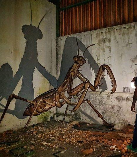 Этот уличный художник создает невероятные анаморфные граффити…