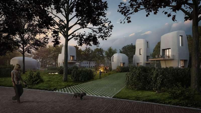 Первые в мире бетонные дома, созданные при помощи 3D-печати