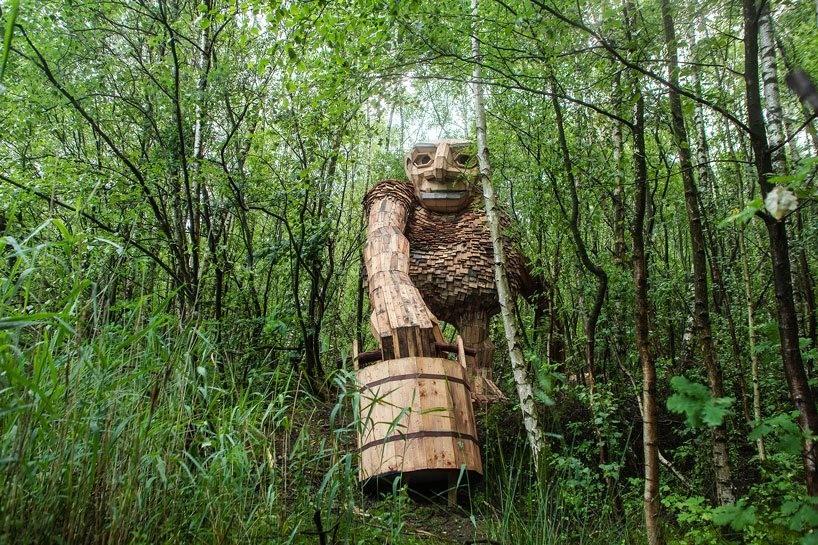 Они существуют…В бельгийском лесу обнаружены гигантские тролли…