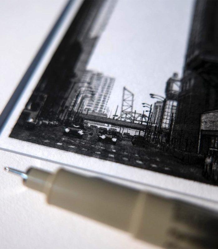 Они выглядят словно фотографии! Художник создает уникальные детализированные рисунки с помощью лишь микронных ручек!