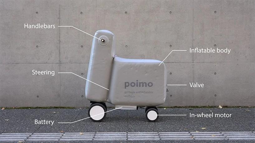 Достал, надул, поехал! Электрический скутер Poimo – новый тип личной мобильности!