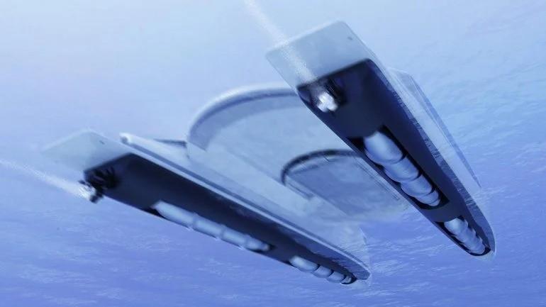 Катамаран, который может путешествовать по воде и суше