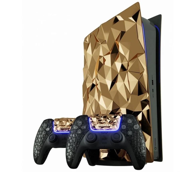 Игровая консоль SonyPlayStation 5 покрыта 30 кг чистого золота, стоимость которого оценивается в 1,8 миллиона долларов