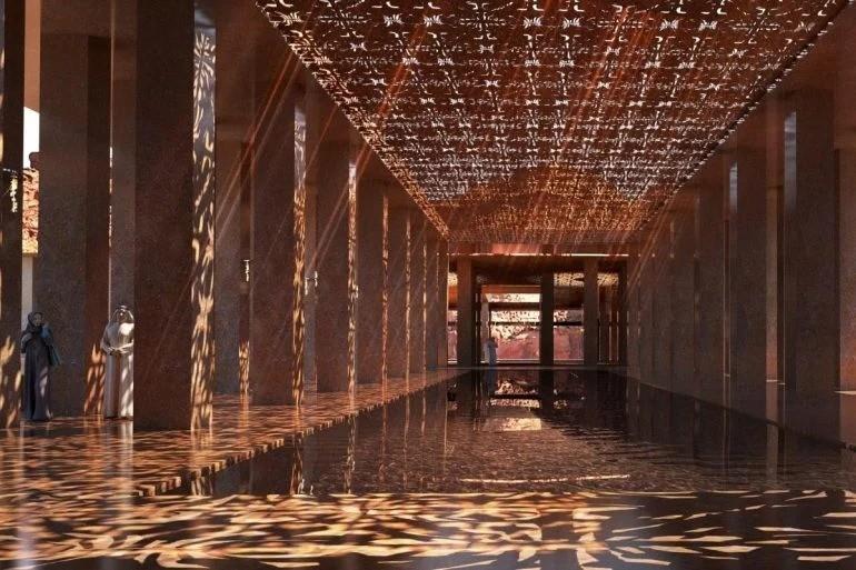 Это будет не похоже на то, что мы видели раньше… Завораживающий подземный отель, вырезанный из скалы в Саудовской Аравии