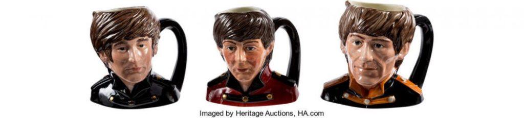 На аукционе продан единственный в своем роде набор кружек The Beatles за 34000 долларов