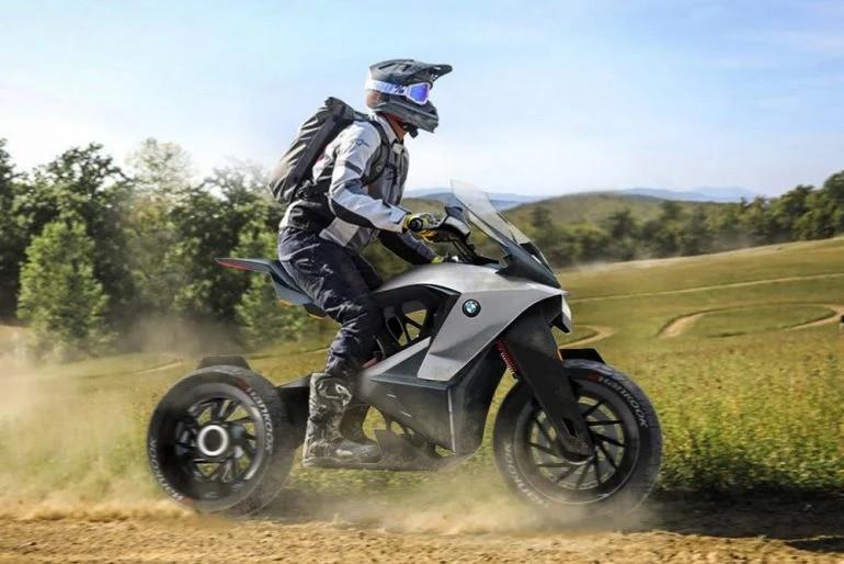Этот мотоцикл BMW оснащен собственным дроном, который поможет вам ориентироваться в пути и защитит от диких животных